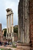 Rome som det forumRomanum skräpet fördärvar av det forntida Royaltyfri Fotografi