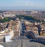Rome från Sts Peter Basilica, Vatican Royaltyfria Foton
