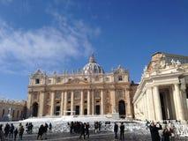 Rome sous la neige photographie stock