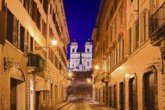Rome Spanish St Rise Royalty Free Stock Image