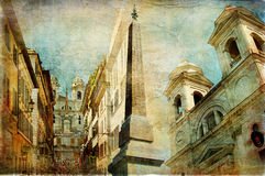 Rome - Spanish steps Stock Photos