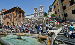 Rome - Spanish steps Stock Images