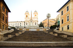 Rome Spanish Steps Stock Image