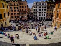 rome spanjormoment Arkivfoton