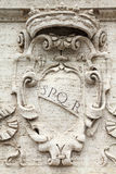 Rome SPQR. Rome, Italy. Roman symbol SPQR, Italian architecture detail Stock Images