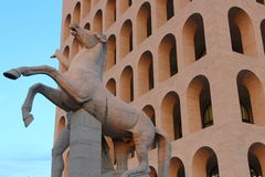 Rome, Square Colosseum, detail Royalty Free Stock Images