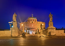 Rome St Angel Road Rise Royalty Free Stock Photos
