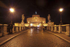 Rome. St Angel's castle Stock Images