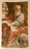 Rome - st. John the Evangelist. At writing of Apokalypse on Patmos island Royalty Free Stock Photo