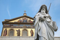 Rome - st. Paul s satatue Royalty Free Stock Images