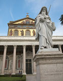 Rome - st. Paul s statue Royalty Free Stock Images