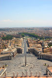 Rome -St. Peter basilica. Rome – the greatest and bigest city in europe Stock Image