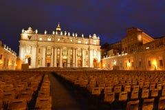 Rome St Peter Basilica Royaltyfria Foton