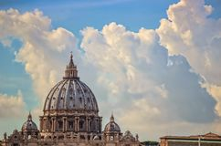 Rome St. Peter dome daylight view royalty free stock photography