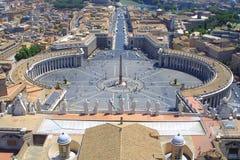 Rome - St. Peter plaats Royalty-vrije Stock Afbeelding