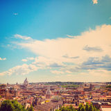 Rome and St. Peter's Basilica Royalty Free Stock Photography