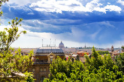 Rome and St. Peter's Basilica Royalty Free Stock Photo