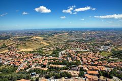 View from San Marino Stock Images