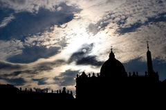 Rome - st. Peters basilica in sunset - montage Royalty Free Stock Photo