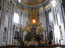 Rome St. Peters Front Altar Royalty Free Stock Photography
