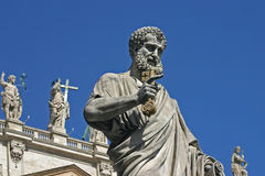 Rome St Peters Square statue Stock Photos