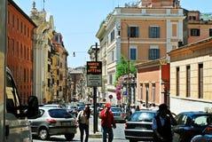 Rome stadsliv Sikt av den Rome staden på Juni 1, 2014 Arkivbild
