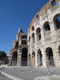 Rome stadspanorama Sikt av coliseumen Arkivbilder