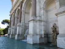 Rome stadspanorama Sikt av springbrunnen i Italien Fotografering för Bildbyråer