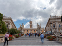 rome stairway рая к Стоковые Фотографии RF
