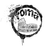 Rome Stamp. A stamp of the capital of Italy, Rome Royalty Free Stock Photos