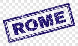 Grunge ROME Rectangle Stamp vector illustration