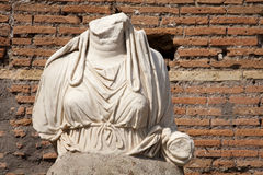 Rome - statue from Atrium Vestae Royalty Free Stock Photo