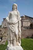 Rome - statue from Atrium Vestae Stock Photo