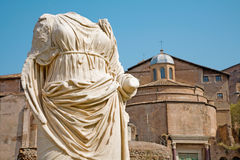 Rome - statue from Atrium Vestae - Forum romanum. Rome - statue from Atrium Vestae in Forum romanum Royalty Free Stock Photo