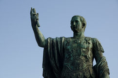 Rome Statue of Emperor Trajan Royalty Free Stock Image