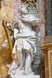 Rome - The statue of The King David by Andre Jean Lebrun (1769) in baroque church Basilica dei Santi Ambrogio e Carlo al Corso. Stock Photography