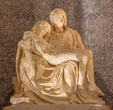 Rome -  The statue of Pieta in church Santa Maria dell Anima by Lorenzo Lotti (nickname Lorenzetto Stock Photos