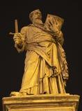 Rome - statue of st. Paul on the Angels bridge Stock Image