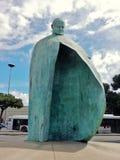 Rome - staty av Giovanni Paolo II Arkivfoto