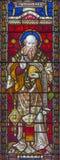rome 2016: Stet John Chrisostomen på målat glass allra Saints& x27; Anglikansk kyrka vid arbetsrummet Clayton och mummel Royaltyfria Bilder