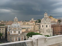 Rome before the storm. Rome under a grey sky - Italy - Europe Royalty Free Stock Photos