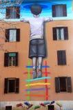 Rome - Straatkunst in Tormarancia Royalty-vrije Stock Foto