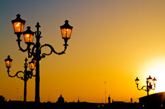 Rome street lights Royalty Free Stock Photography