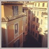 Rome. A street in Rome - Mobile Stock Royalty Free Stock Photos