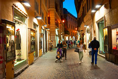 Rome street at night Royalty Free Stock Photography