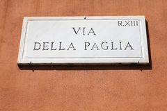 Rome street sign Stock Image