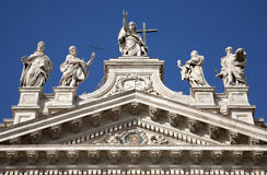 Rome - summit of Lateran basilica Royalty Free Stock Images