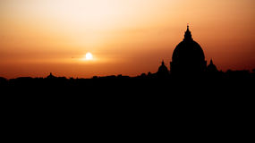 Rome at sunset Stock Images