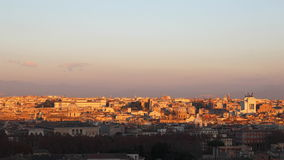 Rome at sunset with flocks of birds stock video footage