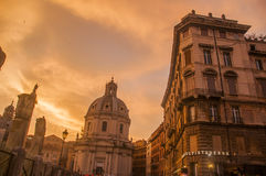 Rome. Sunset light amazing color Stock Photos